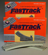 Lionel Fastrack Track Pack Inner Passing Loop Layout Switch Fast Turn 6-12028 Nb