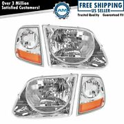 Lightning Style Headlights And Corner Parking Lights Kit Set For F150 Expedition