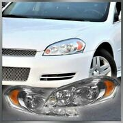 Headlights Headlamps Lh Left Rh Right Pair Set Of 2 For Chevy Impala Monte Carlo