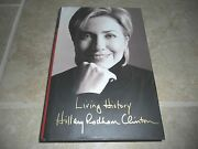 Hillary Rodham Clinton Living History Signed Autographed Book Psa Certified