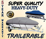 Boat Cover 17and039-19and039 V-hull Center Console 30 Cons Height Beam 96 W/ Bow Rails