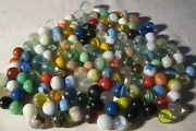 Lot 3 1940's - 1950's Vintage Boy Man Toy Game Glass Art Marbles 150 Total