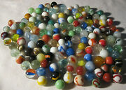 Lot 4 1940's - 1950's Vintage Boy Man Toy Game Glass Art Marbles 143 Total