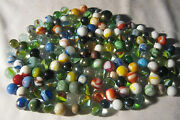 Lot 8 1940's - 1950's Vintage Boy Man Toy Game Glass Art Marbles 153 Total