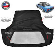 Bmw 3-series E30 Convertible Soft Top 1986-1993 Black Twill And Plastic Window