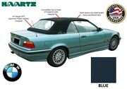 Bmw E36 3-series Convertible Soft Top 1994-1999 Blue Stayfast And Plastic Window