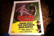 Invisible Woman Orig Movie Poster R52 Linen Realart Horror