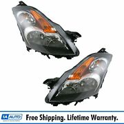 Headlights Headlamps Left And Right Lamp Pair Set New For 07-09 Nissan Altima
