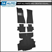 For 1974 Datsun 260z Cut And Sewn 80/20 Loop 01-black Complete Carpet