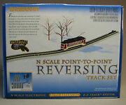 Bachmann N Scale Point To Point Reversing Track Set Train Trolley Bump Bac44847