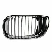 All Chrome Upper Grille Grill Driver Side Left Lh For 02-05 3 Series 4 Door