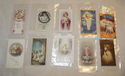 10 Christ Child Holy Cards 2 Mm Nealis All Vintage/antique With Free Envelopes