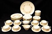 Beautiful Vintage Coquette By Lenox 51 Piece Dinnerware Set - 8 Person Setting