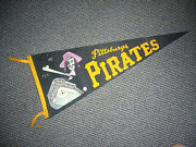 1960's Pittsburgh Pirates Vintage 4 Color Full Size Pennant Ex/mt