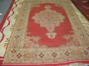 Antique Agra India Hand Knotted Wool Rug 5and039 X 8and039 Early 1900and039s