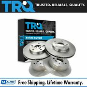 Trq Brake Rotor Front And Rear Kit Of 4 For Lexus Es300 Toyota Camry Solara