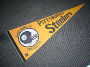1/21 1979 Super Bowl Xiii Pittsburgh Steelers World Champs Pennant Nm