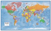 Swiftmaps World Classic Premier Wall Map Mural Large 3d Relief Decoration Poster