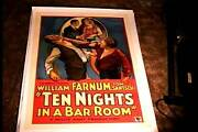 Ten Nights In A Bar Room Orig Movie Poster 1931 Linen Alcoholism Rare