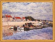 Barges On The Loing At Saint-mammes Alfred Sisley Frankreich Fluandszlig B A1 00409