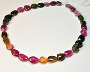 392.55ct Huge Multi Color Tourmaline Smooth Nugget Beads 19 Strand