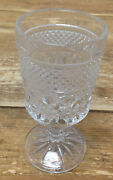 Clear Glass Pressed Sherry Goblet Cordial Claret Wine Anchor Hocking Wexford