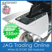 Se Sport 300 White Hydrofoil - Boat / Outboard Motor Stabiliser - Suits 40-350hp