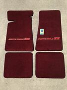 Carpeted Floor Mats - Small Red Monte Carlo Ss On Maroon Mats
