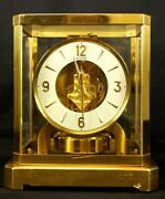 Lecoultre Atmos Perpetual Motion Clock Brass And Glass Good All Original Condition