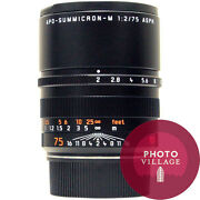 Leica M 75mm F/2.0 Apo Summicron Asph Rangefinder Lens -- Certified Pre-owned