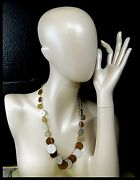 Vintage 1970s Necklace With Genuine Coin Pendants Indonesia Sierra Leone And More