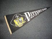 1940's 1950's Pittsburgh Pirates Vintage Full Size Pennant Nice