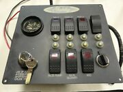 Gatsby Electric Cruiser Ignition / Gauge And Switch Panel 9 1/2 X 8 1/2 Boat