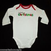 Carters My First Christmas Infant Bodysuit And Socks Set Size 3 Months New