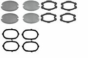 1959 Cadillac Glass Fog Light Lens Set Of 4 W/ Inner+outer Gaskets Reproduction