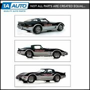 Decal Stripe Indy Pace Car Silver And Red Graphics Kit 15 For 78 Chevy Corvette
