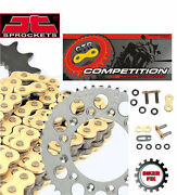 Fits Ktm 450 Smr 04-07 Gold Extra Heavy Duty X-ring Chain And Sprocket Kit Set