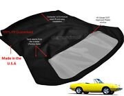 Fiat 850 1967-1973 Convertible Soft Top With Plastic Window Black Stayfast Cloth