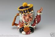 Old King Cole 2 Faced Tea Pot Staffordshire Shorter And Son England
