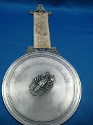 6.5antique German Embossed Pewter Horoscpoe Sign Cancer.brith6/22-7/22 Picture