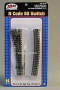 Atlas N Scale Code 80 Standard Left Hand Switch Train Track Section 19 Atl2750