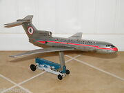 Rare Antique Ngs American Airlines Boeing 727 Tin Airplane Litho Airline