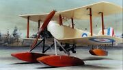 Sopwith Baby Single-seat Scout And Bomber Biplane Seaplane Wood Model Big New