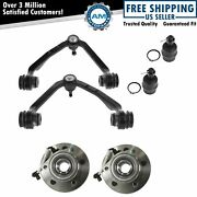 Control Arm Ball Joint And Hub Front Upper Lower Kit Set Of 6 For Ford F150 W/ 4wd