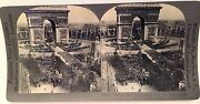 A Stereoview Rp War Paris Arch Of Triumpth Victory Day July 14 1919 Soldiers