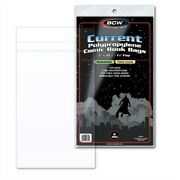 1000 Bcw Thick Current Comic Book Resealable Poly Bags +acid Free Backer Boards
