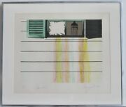 Rainbow Colored Abstract Lithograph By James Rosenquist 1972
