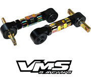 Vms Rear Billet Adjustable Camber Arms 88-00 Civic Crx 90-01 Integra Neo Chrome