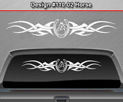Design 110-02 Horse Horseshoe Rear Window Decal Sticker Graphic Tribal Accent