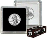 Case / 500 Bcw 2x2 Hard Plastic Coin Snap Holders Quarter Size Square Protectors
